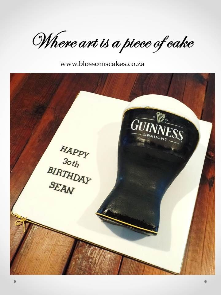 Guinness Cake for a 30th