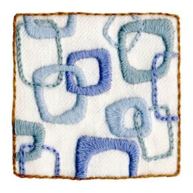 The hip squares crewel embroidery kit from wool hoop