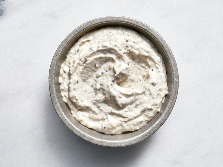 A Caesar Sauce With Just 46 Calories | We took the classic dressing elements and thickened them for a creamy sauce that's delicious on salmon or for reviving leftover rotisserie chicken. Finely grated garlic has a big kick, so start with half a clove.