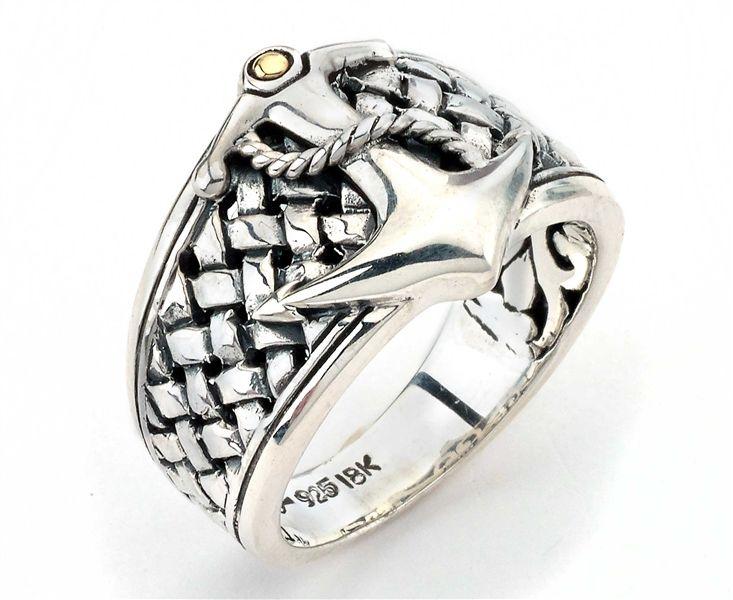 The Samuel B. Collection Imperial men's #anchor ring #mensjewelry @samuelbehnam