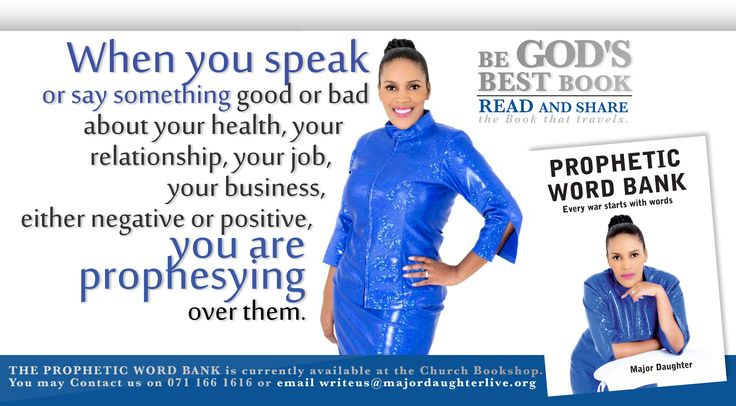 When you speak something good or bad about your health, you are prophesying it.