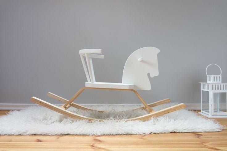 Rocking Horse wit- baby speelgoed va 1 jaar.