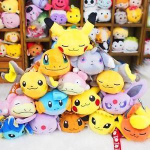CUTE-Pokemon-Pikachu-Raichu-Kuttari-Soft-Plush-Tsum-Kuta-Doll-Stuffed-Animal-Toy