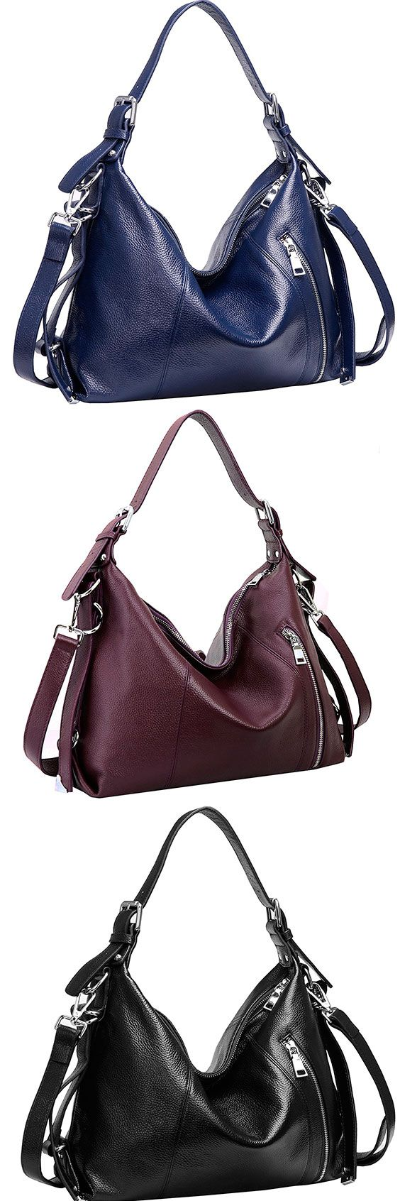 Heshe Leather Cross Body Hobo Bag – Best Satchel Leather Hobo Shoulder Bag The Heshe provides one of the larger and robust shoulder bags available. That total volume is divided up into numerous main compartments as well as various smaller ones. Offers an good sized shoulder and handle drop. #Heshe #Leather #Handbag #Hobo #ShoulderBag #Bag #Crossbody #Satchel #Blue #Navy #Purple #Black