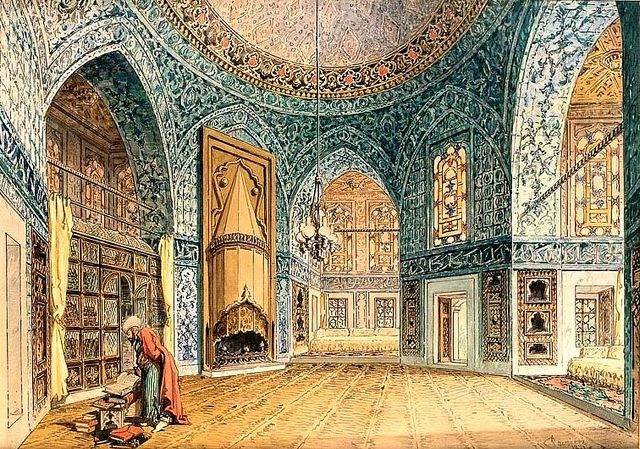 Amadeo Preziosi (1816-1882) - Interior of the Harem, Istanbul