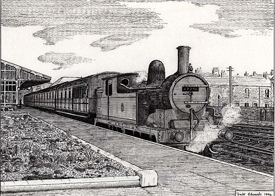 22 best images about Old Steam train drawings on Pinterest ...