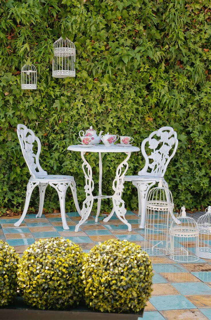 Disfruta de tu jardín con este juego de terraza #BelleEpoque. yo lo quiero¡¡¡