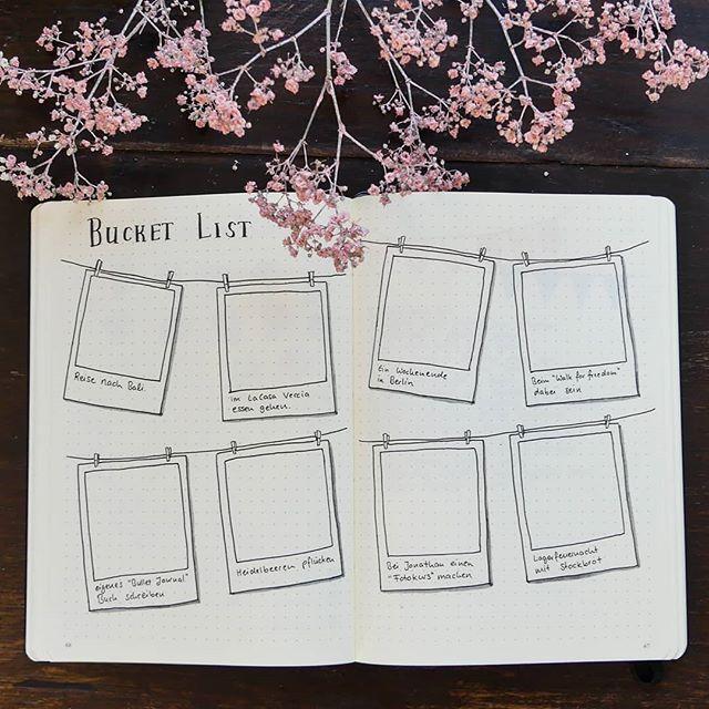 #buchprojekt Habt ihr eine #bucketlist in eurem Bullet Journal? Oder habt ihr ü…