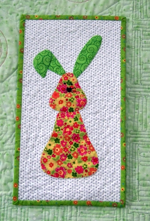 Quilted Bed Runners Also Made This Little Bunny Wall