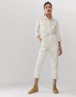 34c9aaf20569 WHITE utility jumpsuit in 2019