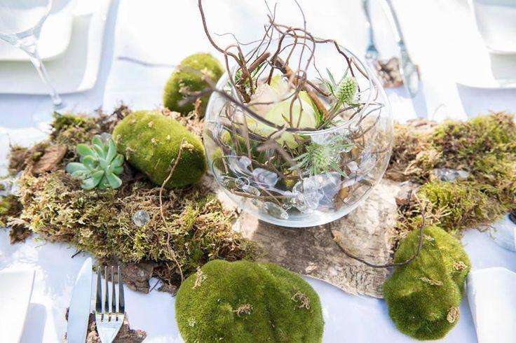 Les 50 meilleures images propos de anniversaire th me foret sur pinterest nature grenadines - Deco table nature ...