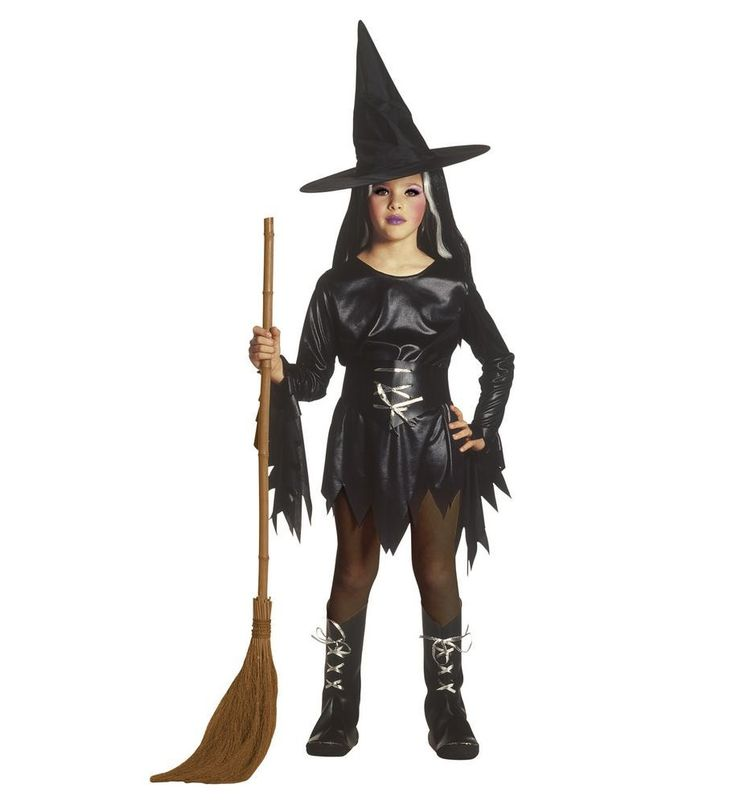 Den lille heks kan være meget ond, hvis du ikke viser hende respekt og gør hvad hun siger. Klæd din datter ud som heks til halloween i dette fine kostume, der består af kjole, bælte, støvlecovers og hat.