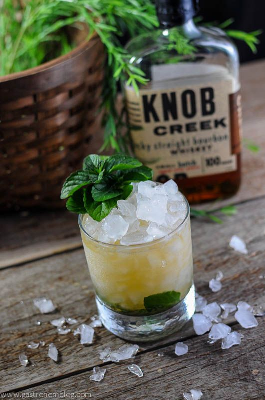 Mint Julep with Knob Creek bourbon Cocktail Recipe Punch, cups, classic, drink, party, cocktail,