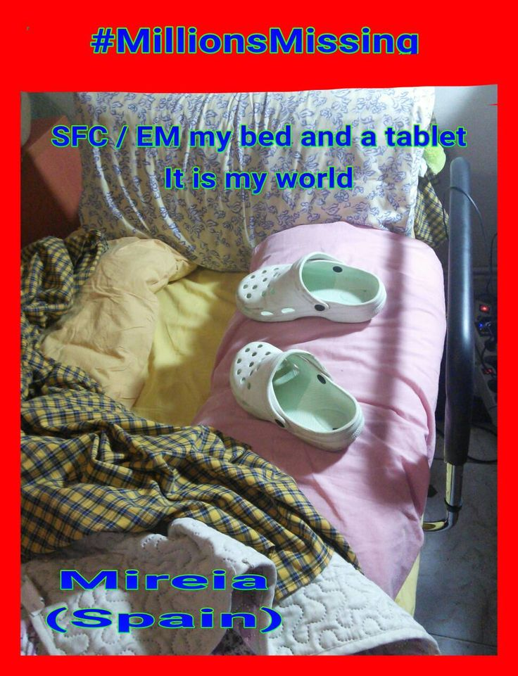 GALAXIA @GALAXIAtwit 38m38 minutes ago  My Bed and my Tablet it is my World #HoraSfcEm #MEawarenesshour #MeAction #MillonesAusentes #NoEsFatigaNoEsVida