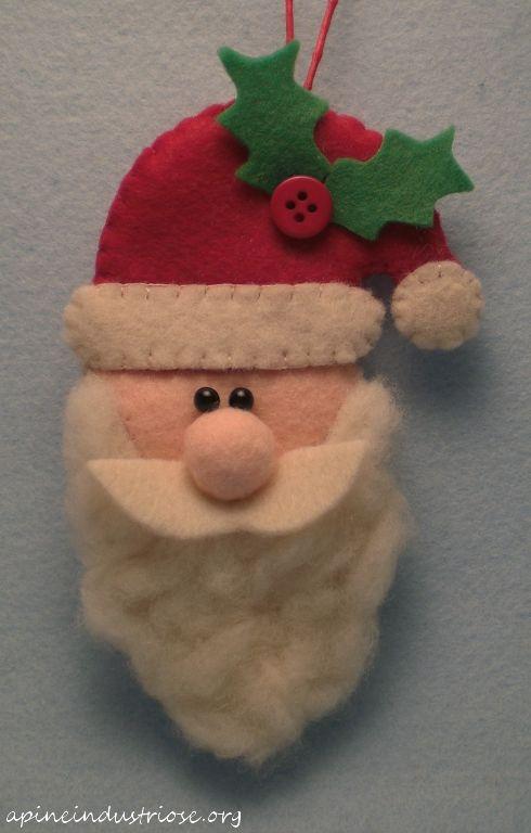 babbo natale di pannolenci - felt santa- christmas ornament