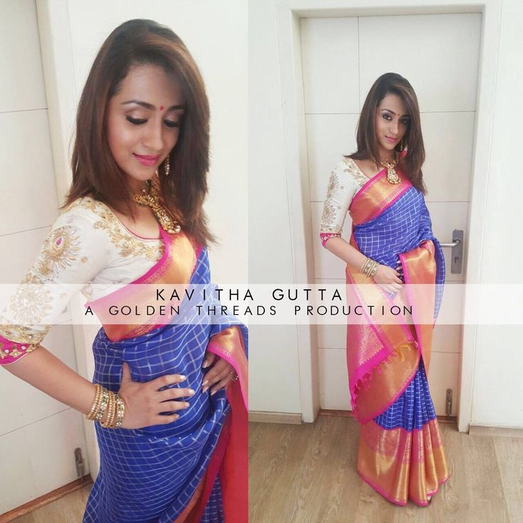 Spotted TrishaKrishnan in a kavithagutta Kanchipuram organza Saree. Kanchipuram organza Sarees are now available at our jubliee hills store . goldenthreads kavithagutta goldenthreadsproduction Contact: +91-9052225447 for further details. Styled by @shravyavarma 18 August 2016