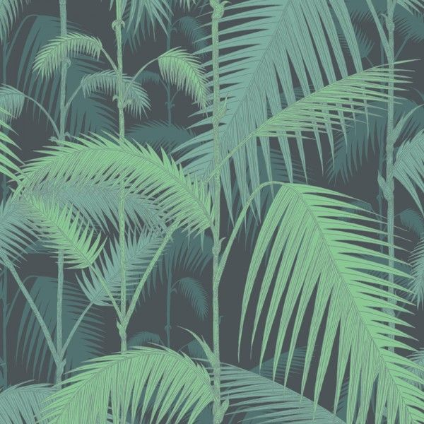 Papier Peint Palm Jungle Cole & Son pour toilettes (Au Fil des Couleurs)