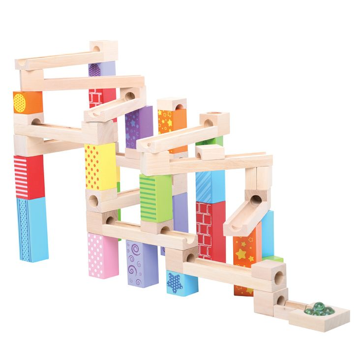 This lovely wooden Marble Run allows youngsters to build fun and exciting structures in which they can roll their marbles down. Watch as the marbles tumble down the wooden course, dropping and falling down the designated holes. This Marble Run comes complete with 47 wooden block pieces and 6 marbles. Suitable for children aged 3 years+. Available NOW: http://shop.bigjigstoys.co.uk/p/marble-run/new-toys-for-2014?pp=20