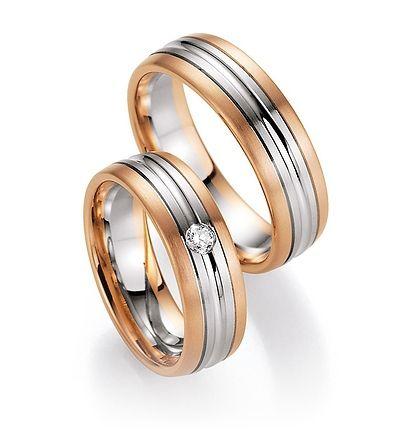 Gouden bicolor trouwringen met diamanten. Online eenvoudig te bestellen. Nieuwste collectie staat online. - € 1.050,00