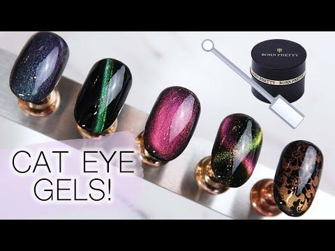 how to use cat eye gel polish  cat eye gel tutorial