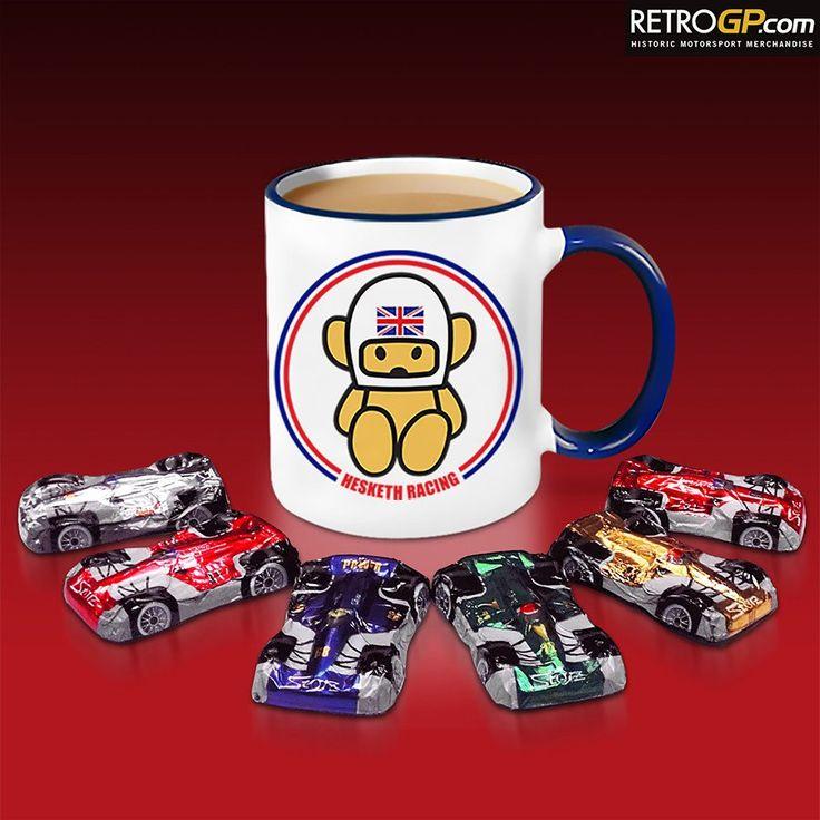 World famous Hesketh Racing Mug and 6 delicious Milk Chocolate Racing Cars. Brilliant!  http://bit.ly/Hesketh_GiftMug
