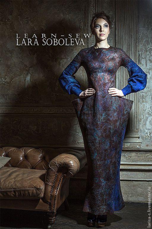 Платья ручной работы. Валяное платье Diti. Лара Соболева (larisa-s). Ярмарка Мастеров. Готическое платье, модная одежда