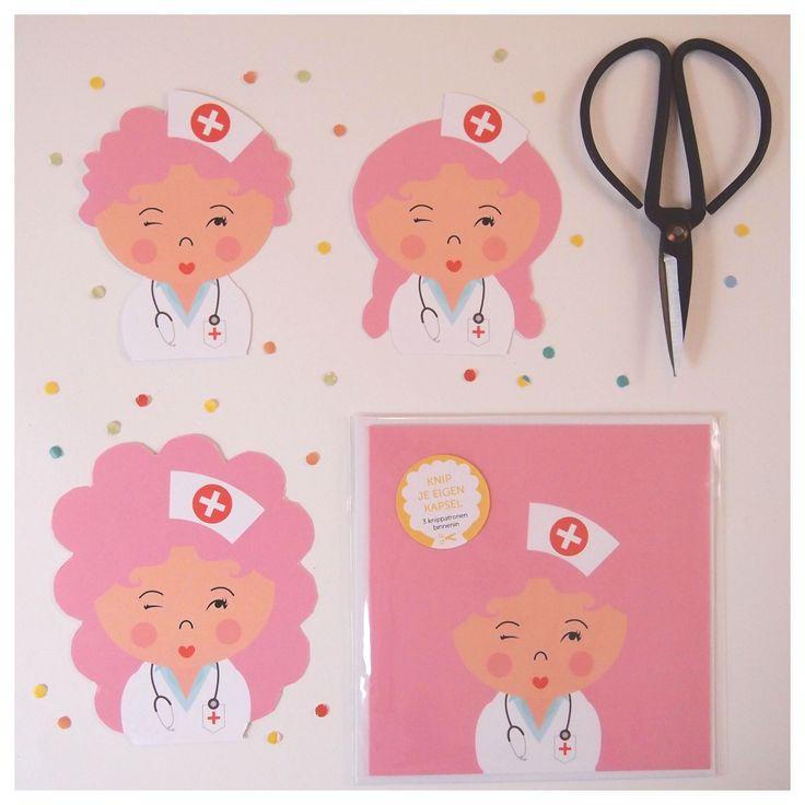 Het leukste kaartje om te ontvangen als je ziek bent: Kapselknipkaarten. Met deze kaarten knip zelf een uniek kapsel. Stekeltjes, krullen of een paardenstaart? Jij bent de kapper! | Papiergoed