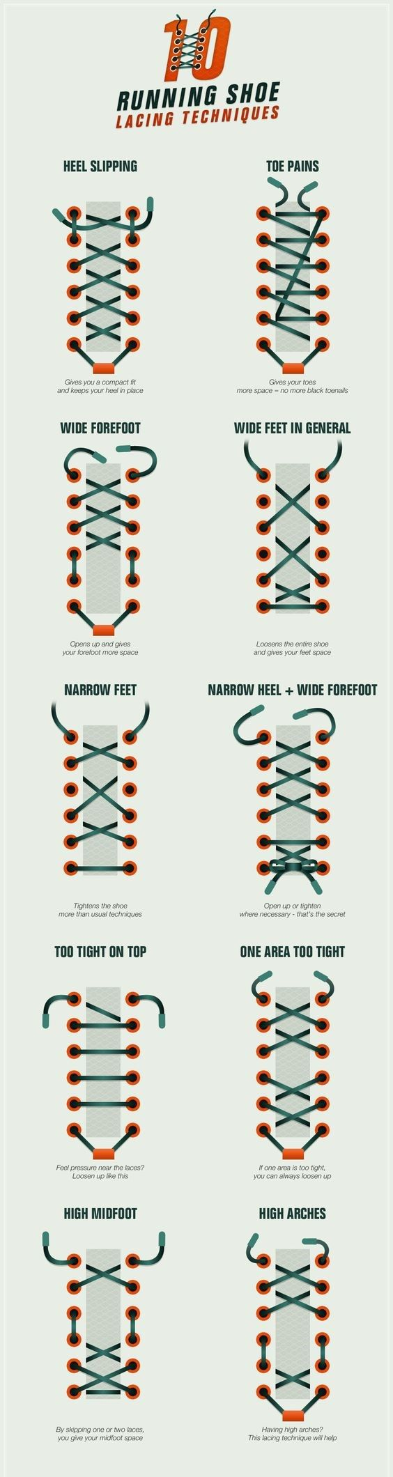 This is ultimate shoe lacing techniques that will help you improve your run- Shoe Lacing Technique #Running #Runners #RunningTips #FitLife #DIY #Hack