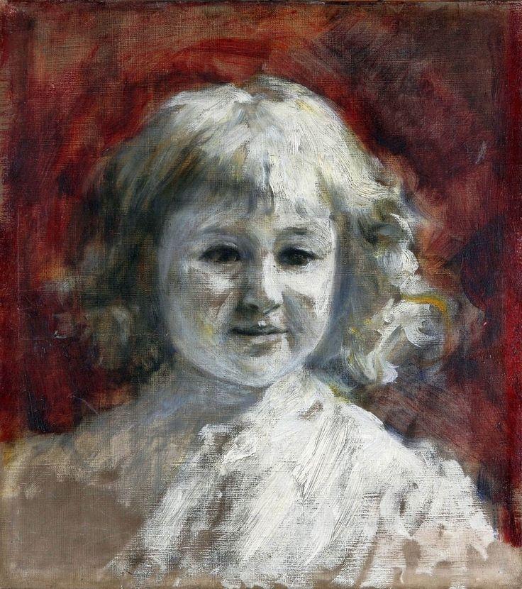 Portrait of a girl in white by Władysław Podkowiński, 1894 (PD-art/old), Muzeum Narodowe w Kielcach (MNKI)