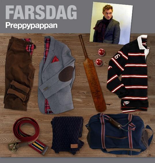 """Am I a """"Preppypappa"""" then? In MQ:s fathersday campain there where three choices: """"Businesspappan"""", """"Denimpappan"""" and """"Preppypappan""""..i guess it's preppy then.. :)    """"Preppypappan har en dressad men mer avslappnad stil. Till jobbet bär han gärna kavaj med näsduken hellre än slips som accessoar. På helgen packar han träningskläderna i en weekendbag från Bondelid. Shoppa hela preppylooken här.."""""""