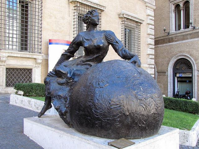"""""""Europa"""" by Sandro Chia, 2005, Palazzo Valentini, Via IV Novembre, Rome"""