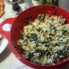 Spinach Basil Pasta Salad Recipe - Made this for the girls' birthday - yum!!