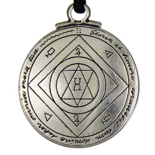 Talisman For Good Luck Key of Solomon Pentacle Seal Pendant Hermetic Enochian Kabbalah Pagan Wiccan Jewelry