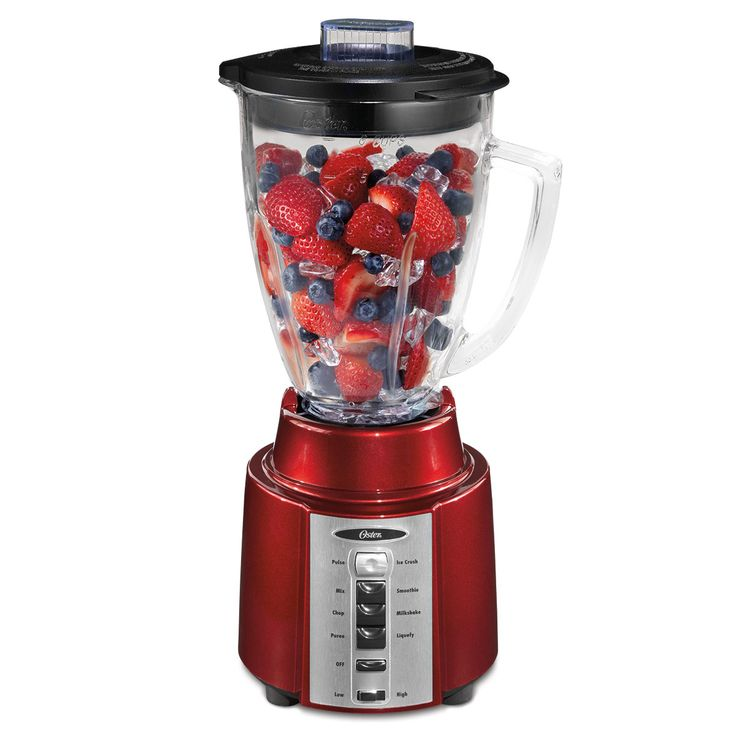 Oster Classic Series Blender - Metallic Red - Glass Jar BCCG08-RM0-NP0 0
