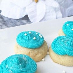 Confectioners' sugar and shortening make a quick and easy frosting for your favorite cookies.