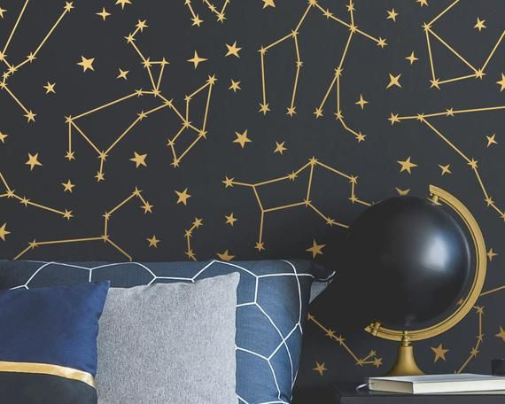 Zodiac Constellation Wall Decals Star Decals Zodiac Gift Wall Decor Gift For Her Constellations Wall Decals Nursery Decor Constellation Wall Decal Star Decals Wall Decals