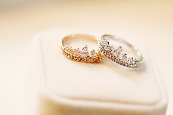 Crown ring /Tiara ring by LaLaSilverJewelry on Etsy, $13.80 size 8.5 please!