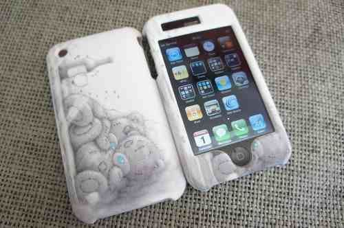 Me to you Bears Cute iphone 3G/3GS CASE FULL COVER FRONT AND BACK-UK STOCK