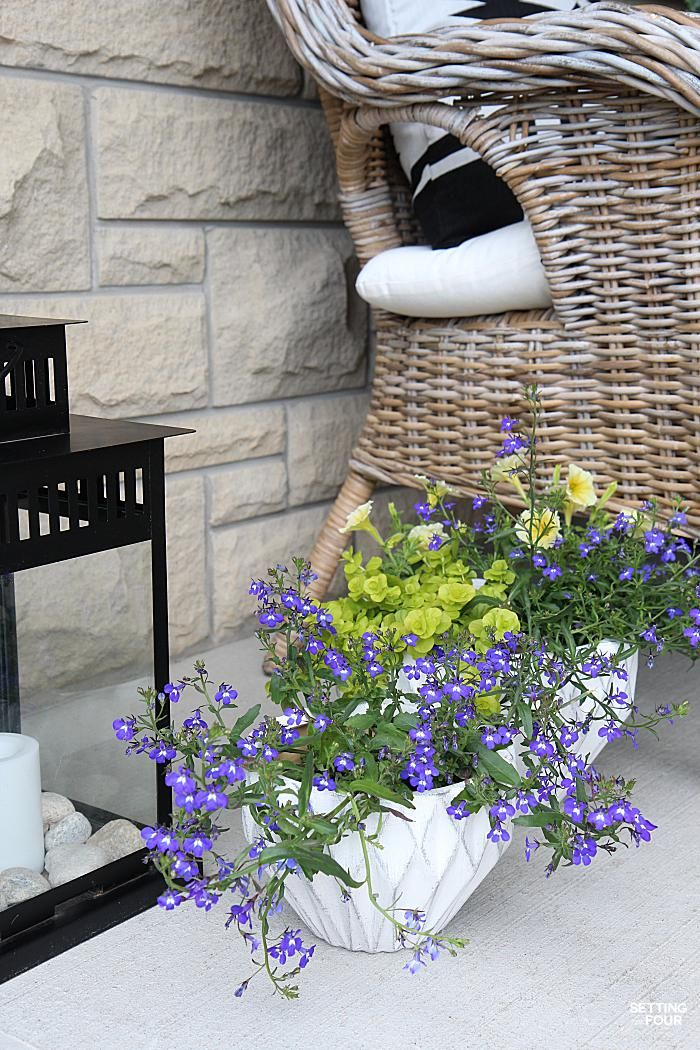 Decorating with Indigo Blue, Black and Gray : Shades of Summer Home Tour