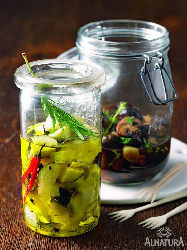 Eingelegte Zucchini und Fenchel #Alnatura #Zucchini #Fenchel