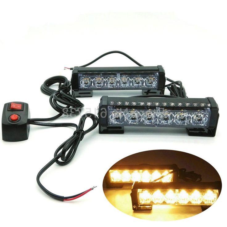 29.99$  Buy now - https://alitems.com/g/1e8d114494b01f4c715516525dc3e8/?i=5&ulp=https%3A%2F%2Fwww.aliexpress.com%2Fitem%2F6-Watt-12v-Vehicle-Mini-Compact-surface-mount-directional-Strobe-Light-tail-flashing-lamp-for-vehicle%2F32679198710.html - 2*6 led Yellow Amber flash light 12W LED flash high power 2*6 led warning light car emergency led light bar