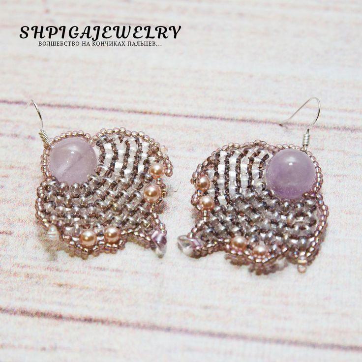 amethyst earrings amethyst jewelry purple earrings dangle earrings gemstone earrings earrings silver earrings long earrings boho earrings by OlgaShpiga on Etsy