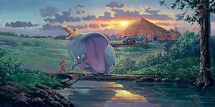 Dumbo - Unlikely Friends - Rodel Gonzalez - World-Wide-Art.com - $650.00 #Disney #RodelGonzalez