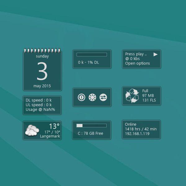Chameleon Windows 10 Desktop Gadget http://win10gadgets.com ...