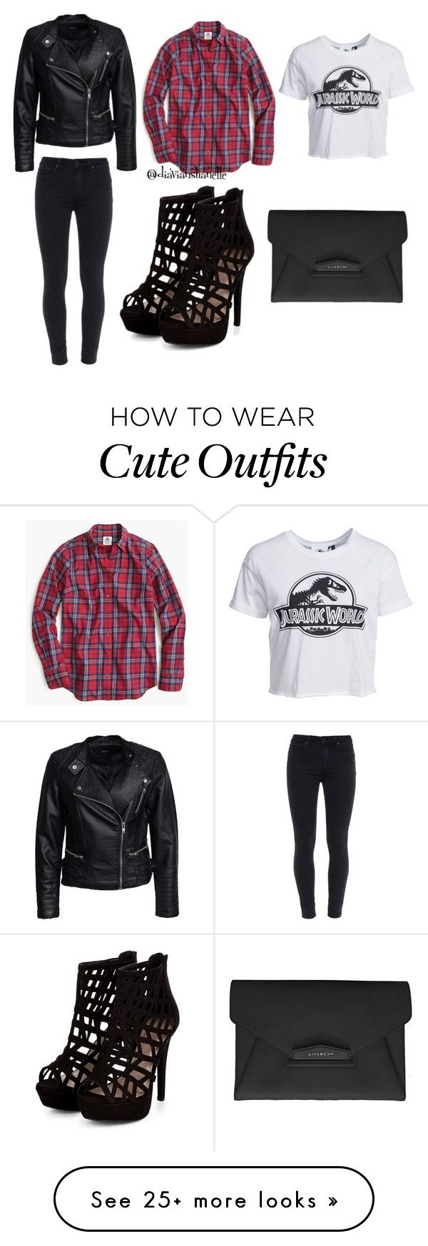 """""""Cute Outfit"""" by diavianshanelle on Polyvore featuring New Look, Thomas Mason, Paige Denim, Sisters Point, Givenchy, women's clothing, women's fashion, women, female and woman"""