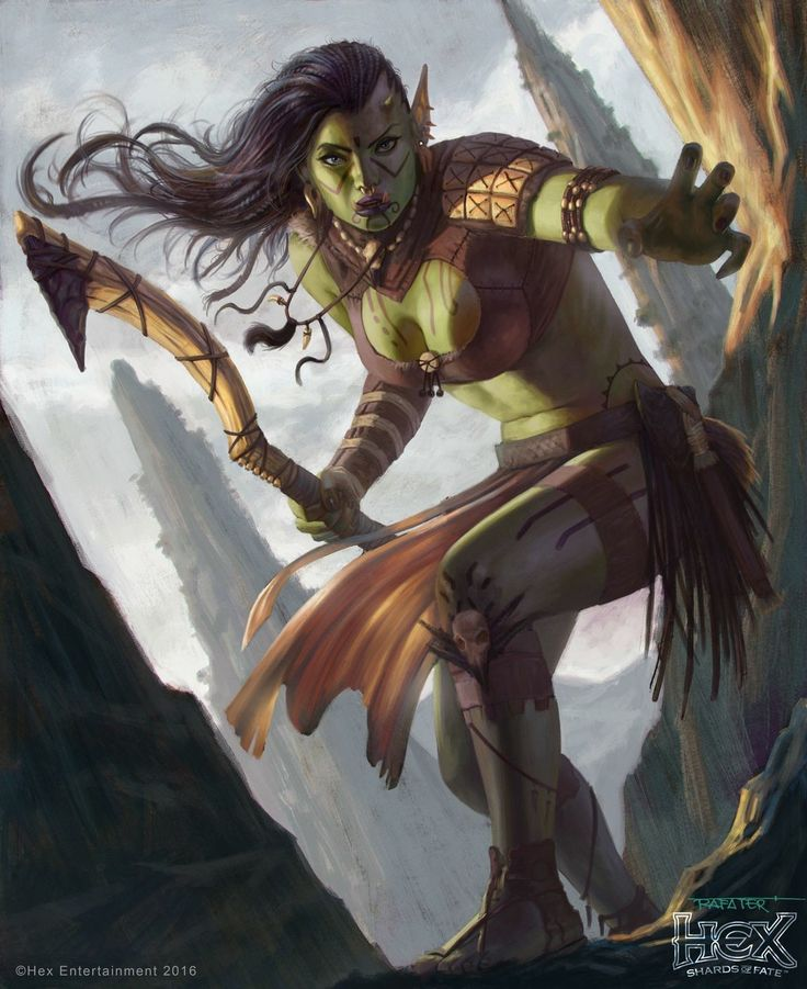 Orc Female, Shards of Fate by Rafeter Hex.