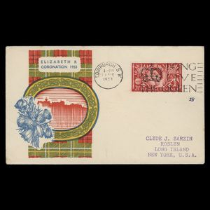 Great Britain 1953 (FDC) 2½d Coronation