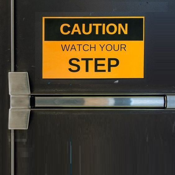 image regarding Printable Watch Your Step Sign referred to as Perspective your move printable indication for warehouse/place of work security