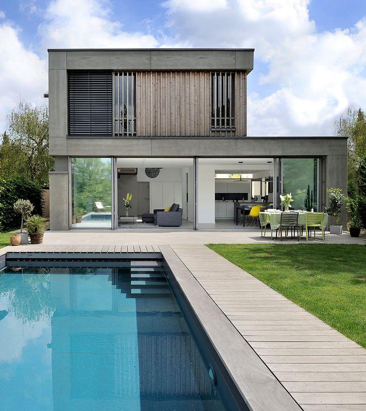 7 best Modèle maison images on Pinterest Contemporary homes - plan maison plain pied 200m2