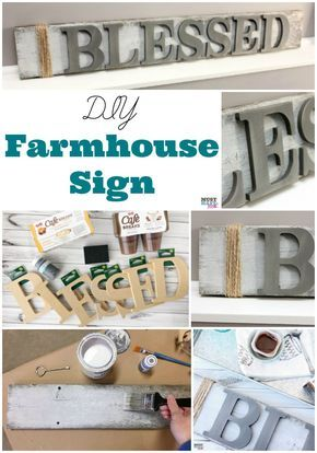 DIY Farmhouse wood signs! Make your own farmhouse style signs with these easy DIY home decor project. #LoveCafeBreaks sponsored @cafebreaks @walmart